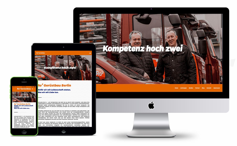 Ro2 Gerüstbau Berlin | Webdesign