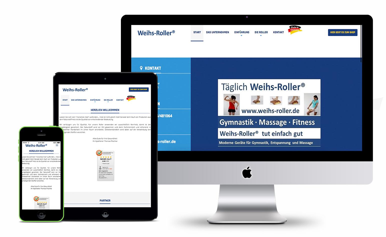 Weihs-Roller | Webdesign