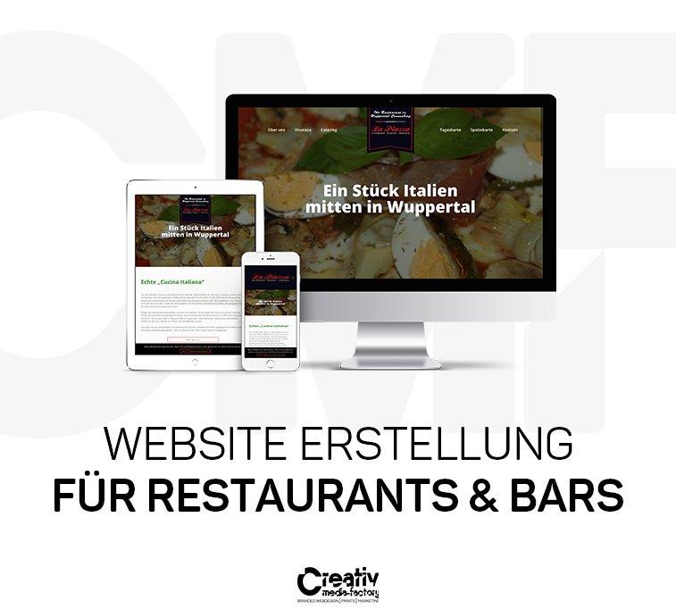 WEBSITE ERSTELLUNG FÜR RESTAURANTS & BARS