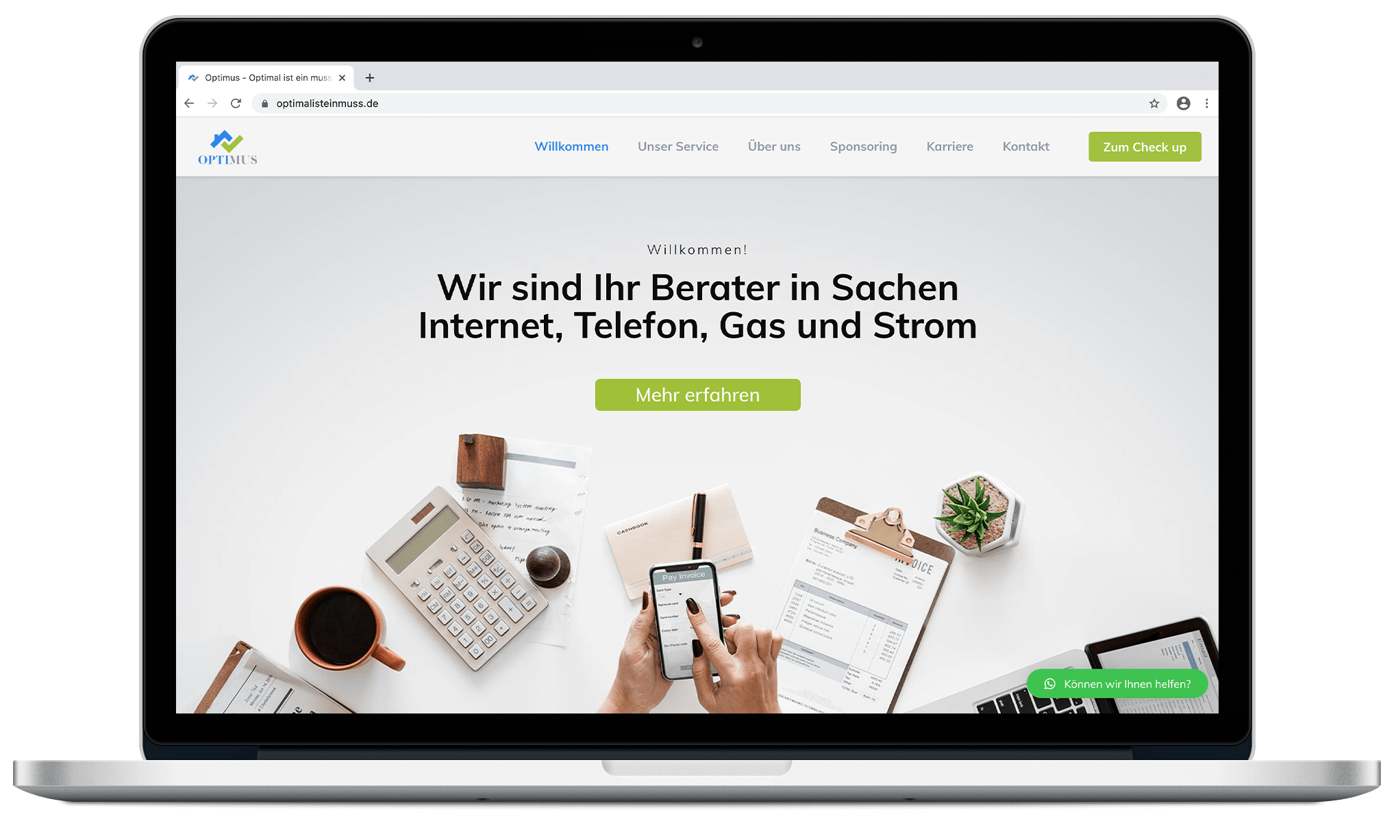 Optimus   Webdesign