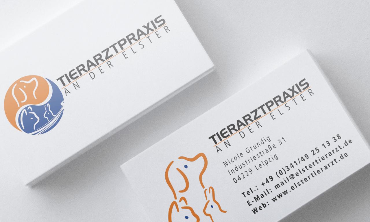 Tierarztpraxis an der Elster | Visitenkarte | Printdesign