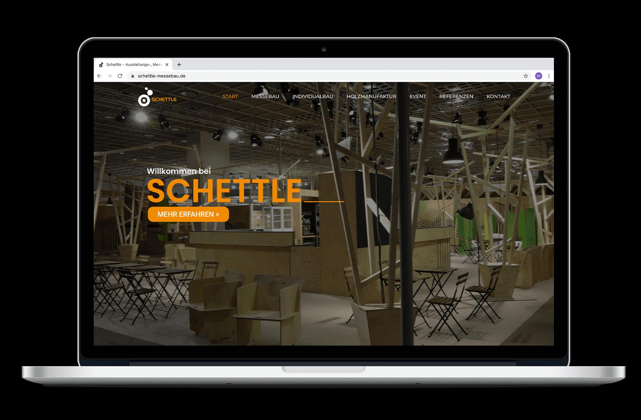 Schettle Messebau | Webdesign | Grafikdesign