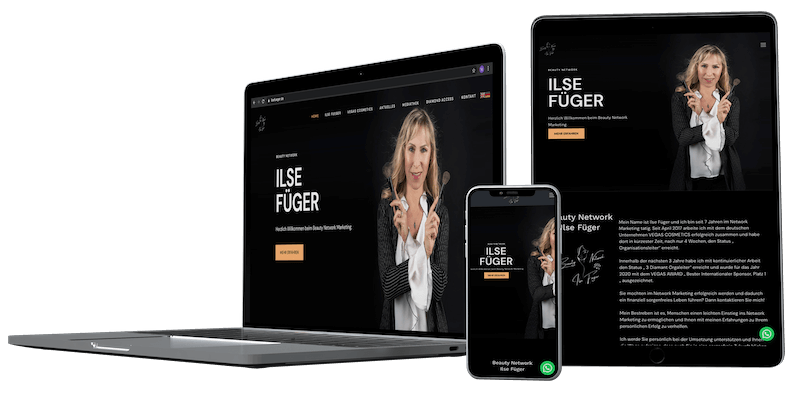 Beauty Network by Ilse Füger  | Webdesign | Grafikdesign
