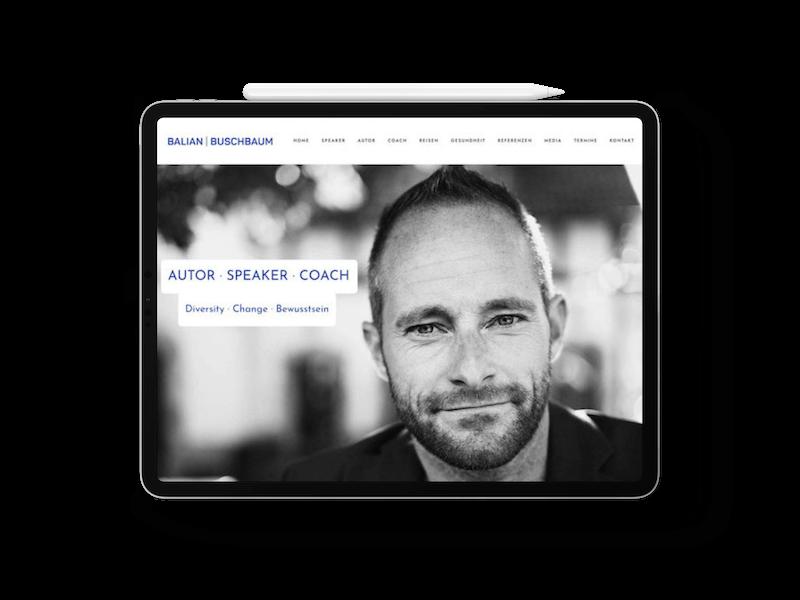 Balian Buschbaum    Webdesign   Grafikdesign